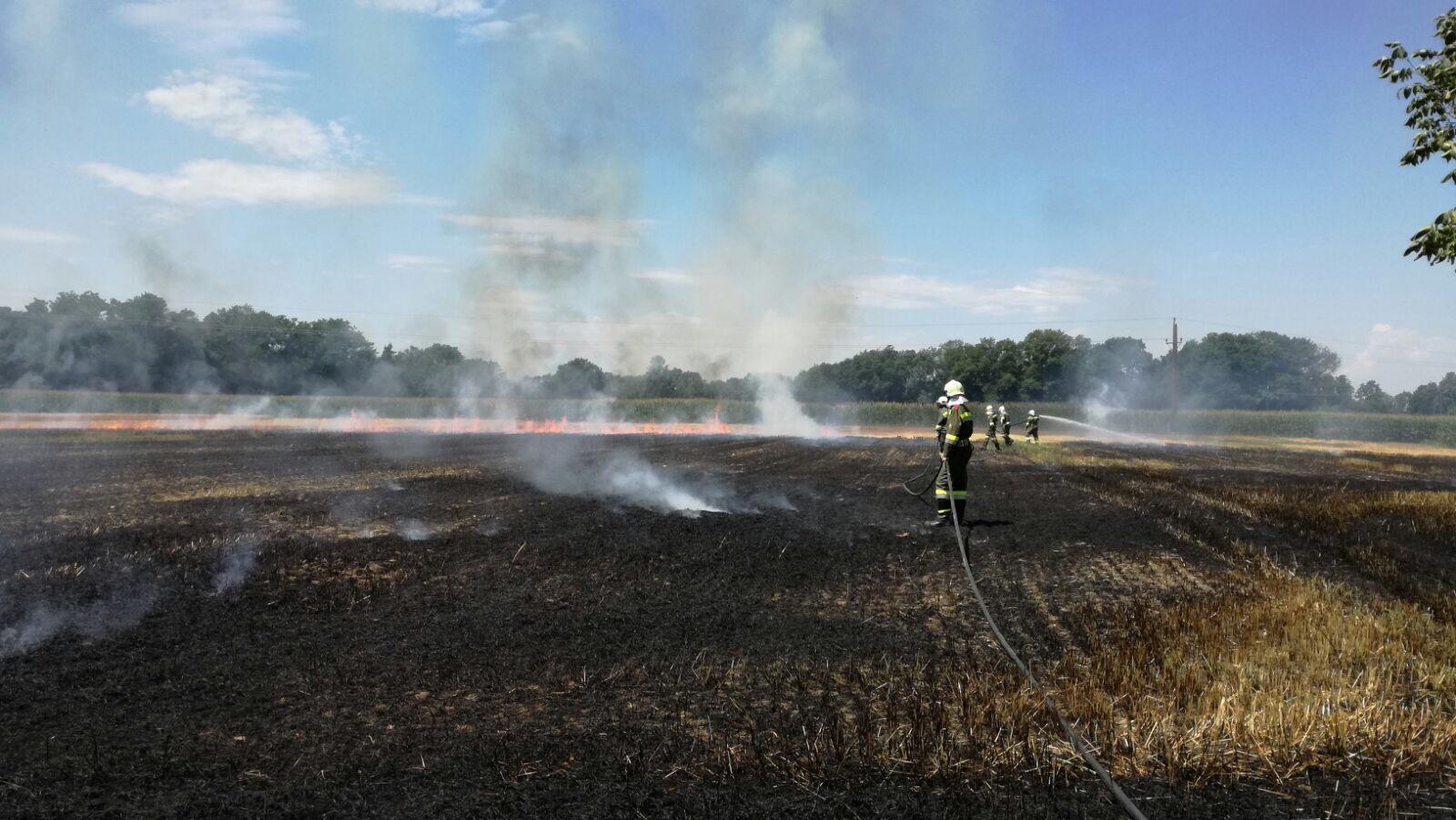 Brandeinsatz der FF Goritz bei Bad Radkersburg, Austria