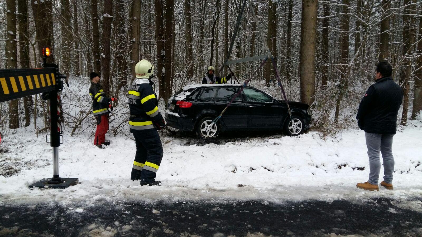 Verkehrsunfall auf der L204 zwischen Goritz und Pölten, FF Goritz