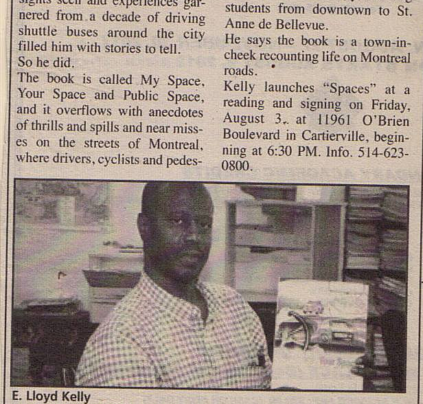 Picture of the poet & Author; E L Kelly In the newspapers