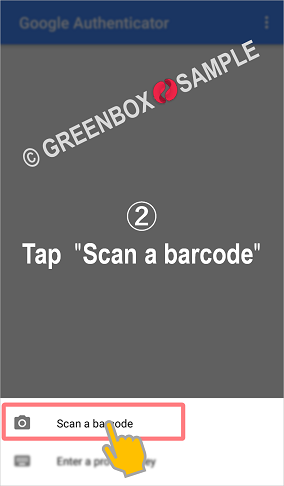How to Google Authenticator - scan a barcode