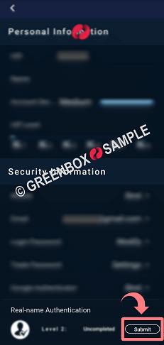 KEX取引所アプリ-本人確認-身分証アップロード方法