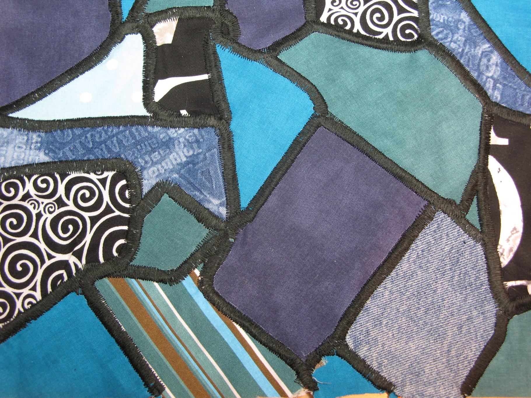 anleitung patchworkmuster mosaik aus stoffresten blog unikationale. Black Bedroom Furniture Sets. Home Design Ideas