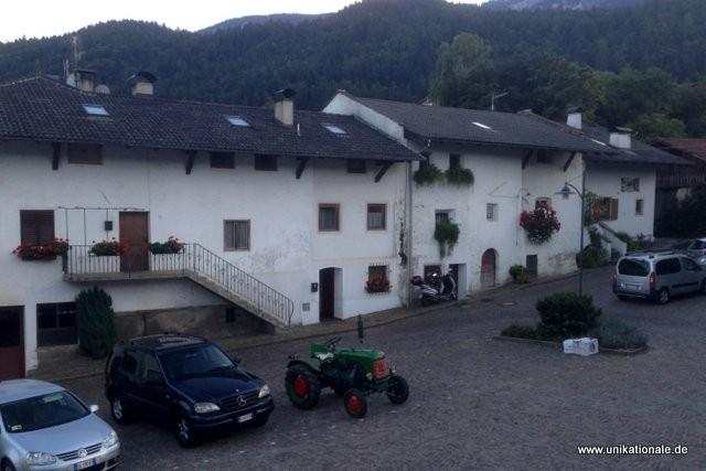 Kurz vor dem Konzert in Südtirol