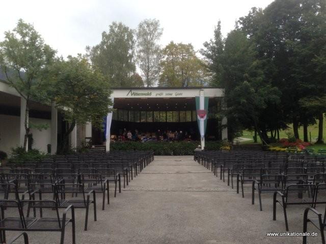 Aufbau zum Konzert in Mittenwald