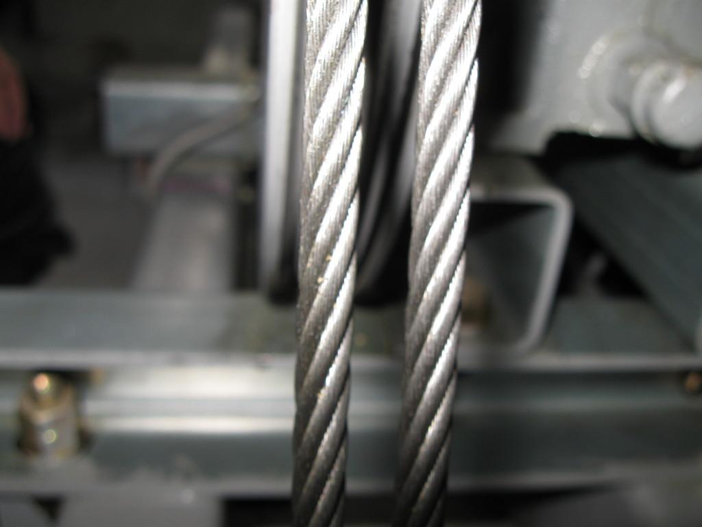 ロープの摩耗度チェック2