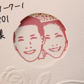 似顔絵で結婚報告