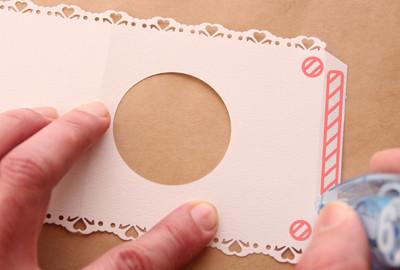 ノリシロにテープ糊を付ける