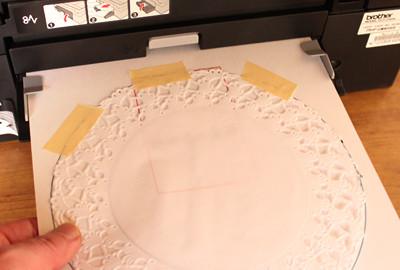コピー用紙を台紙にして印刷