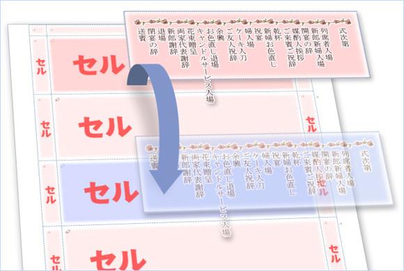 レイアウトを保つにはセル単位で複製する
