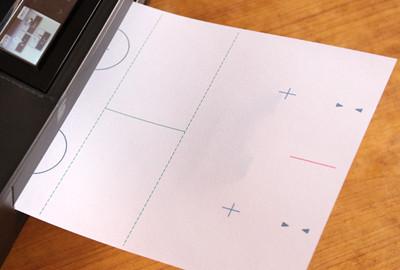 席札の原稿を画用紙に印刷