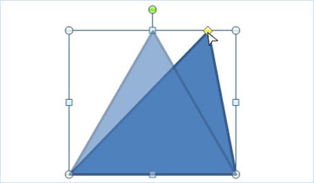 黄色い頂点を使った変形