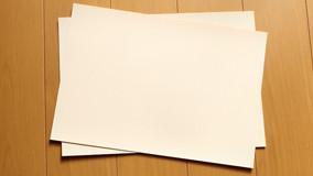 メッセージカードの原紙
