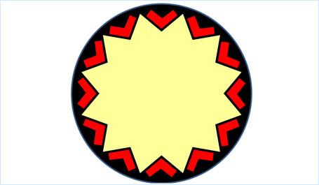 ハンドルで星を変形させる