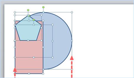 任意のオブジェクトを基準に左右中央揃えをする場合は先に左揃え