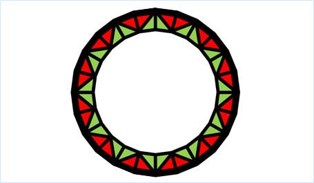 図形を組み合わせて飾り枠を作る