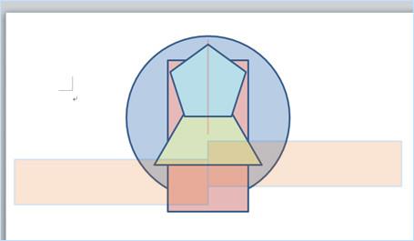 任意の小さなオブジェクトで左右中央揃えを行った例