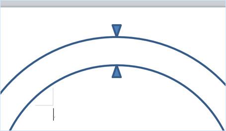 三角形の頂点を円に合わせる