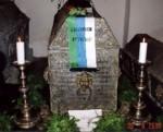 Einsegnung von Herzog Wilhelm in seinem restaurierten Sarkophag in der Fürstengruft zu Mitau