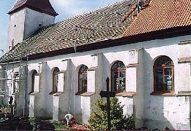 Arbeiten am Hauptdach der Kirche zu Durben