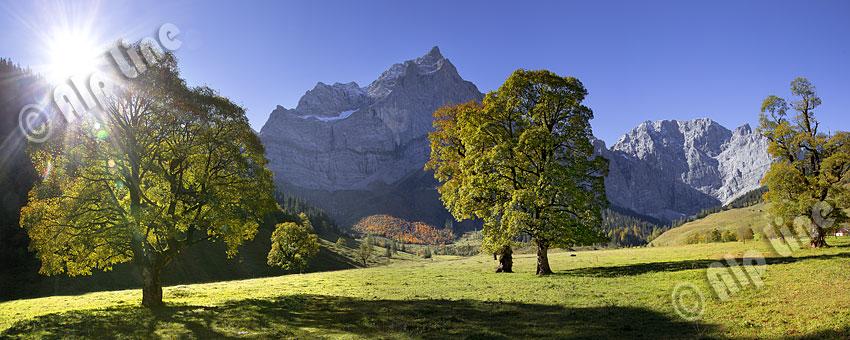 Herbst am großen Ahornboden in der Eng, Karwendelgebirge in Tirol,