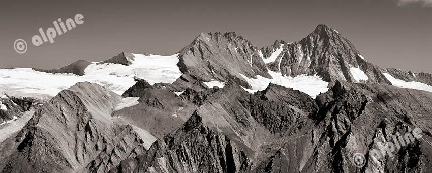Tirol, Osttirol: In der Granatspitz Gruppe, Großglockner vom Sudetendeutschen Höhenweg