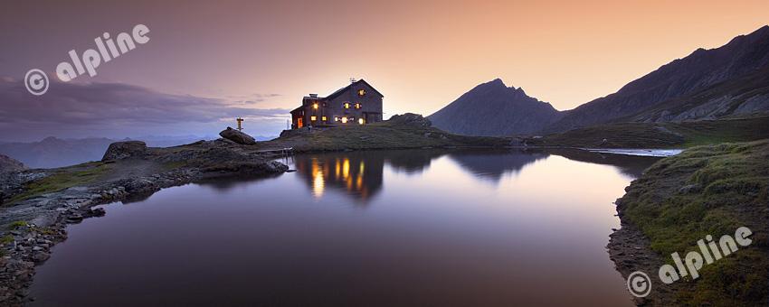 Sudetendeutsche Hütte am Gr. Muntanitz in der Grantspitzgruppe, Nationalpark Hohe tauern, Osttirol