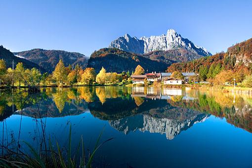 Der Wilde Kaiser bei Grießenau im Kaiswerwinkel, Tirol
