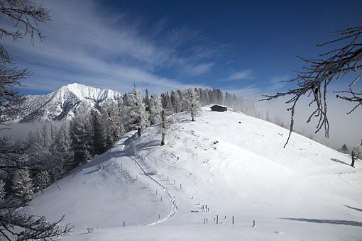 Winterstimmung am Feilkopf im Karwendel, Tirol