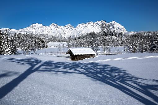 Winterliches Kaisergebirge bei Kitzbühel, Tirol
