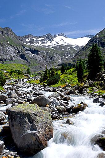 Tirol, Region Zillertal; Die Roßruggspitze im Zemmgrund bei Breitlahner