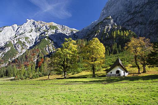 Kapelle in der Grami, Falzthurntal im Karwendel, Tirol