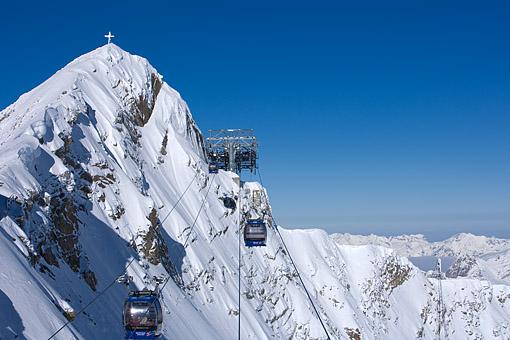 Tirol, Region Zillertal; Schigebiet Gefrorene Wand, Olperer (Tuxer Alpen)  im Tuxer Tal