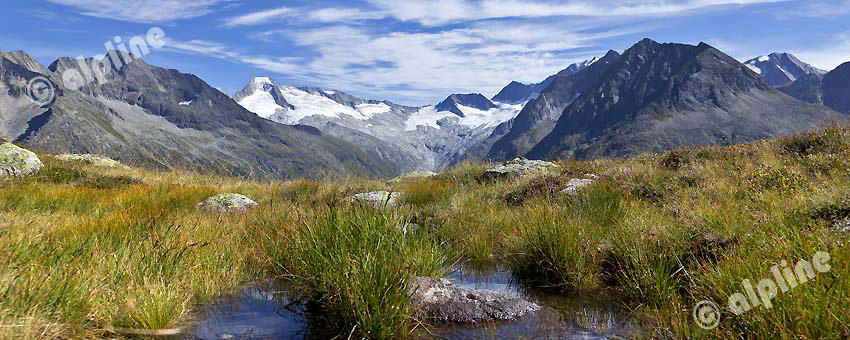 Region Zillertal; Nähe Olpererhütte gegen Gr. Möseler 3480m Zillertaler Hauptkamm, Tirol