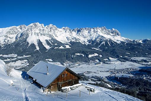 Der Wilde Kaiser bei Ellmau in Tirol