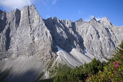 Die Lalidererwände im Karwendelgebirge