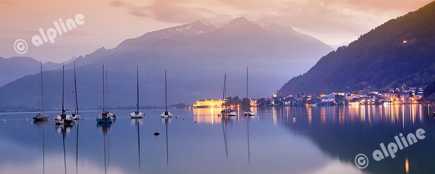 Abendstimmung in Zell am See, Pinzgau, Salzburg