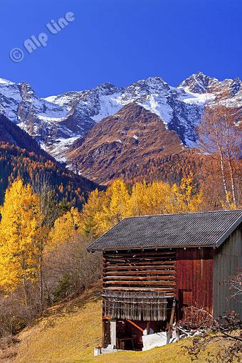 Bei Strengen am Arlberg gegen Hoher Riffler, Tirol Oberinntal, Pfunds