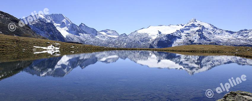 Der Hochgall vom Kofler See in der Rieserferner Gruppe, Tauferertal, Südtirol