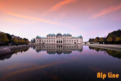 Abendstimmung Oberes Belvedere in Wien