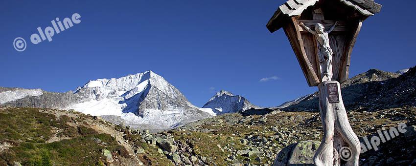 Der Hochgall in der Rieserferner Gruppe, Tauferertal, Südtirol