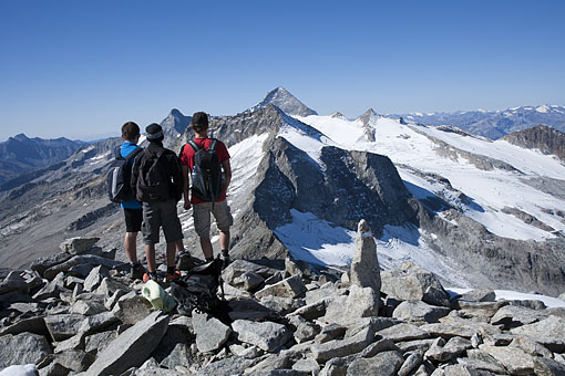 Tirol, Region Zillertal; Am Gr. Riffler Zillertaler Hauptkamm,