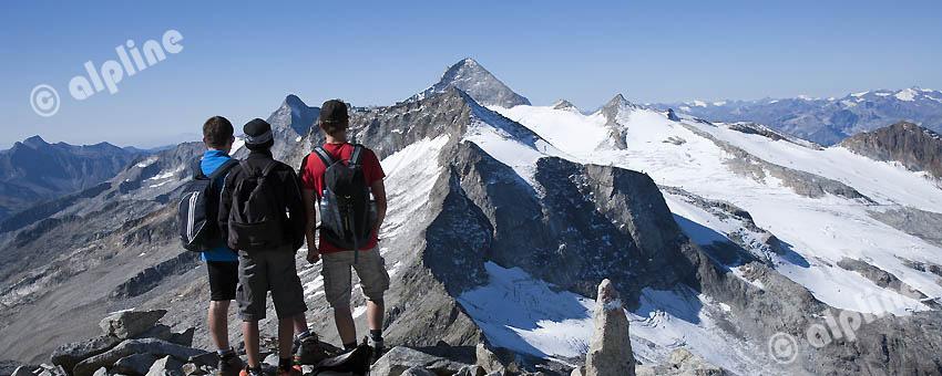 Am Riffler gegen Olperer, Zillertaler Alpen, Tirol