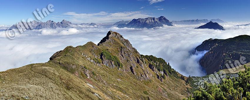 Am Wildseeloder in den Kitzbüheler Alpen gegen die Loferer u. Leoganger Steinberge, Tirol
