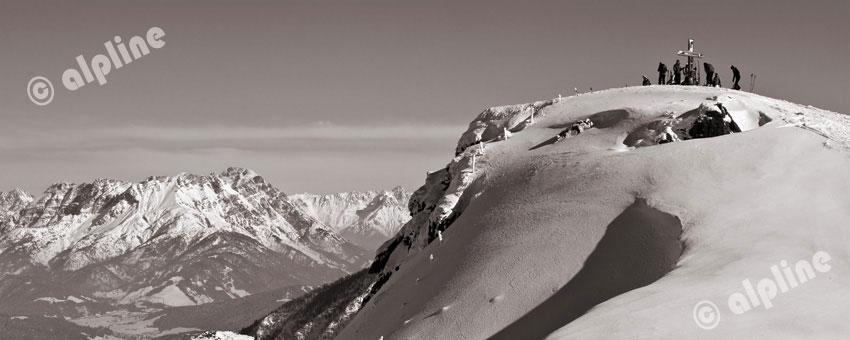 In den Kitzbüheler Alpen gegen Wilden Kaiser, Tirol