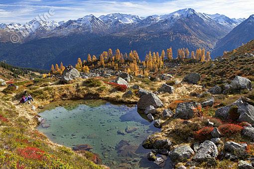 Seeauge auf der Durrialpe im Paznauntal, Tirol