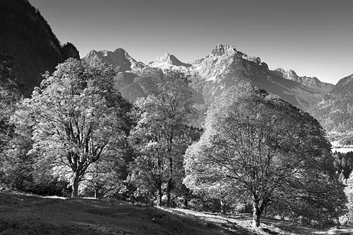 Bei Lofer gegen die Loferer Steinberg im Salzburger Saalachtal