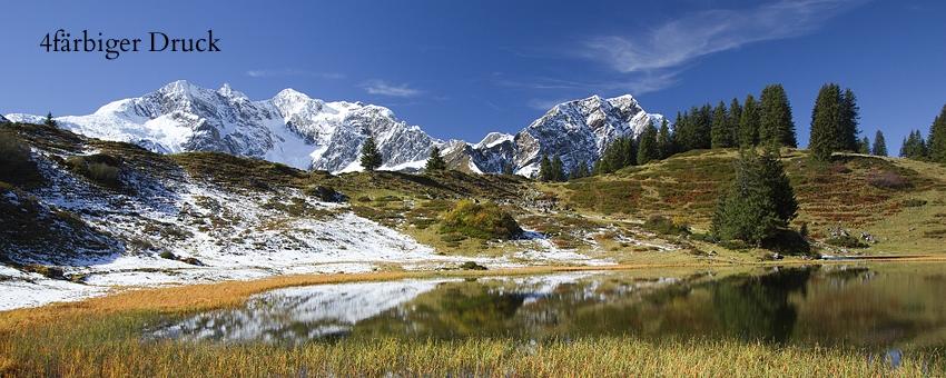 Körbersee gegen Braunarlspitze (Lechquellengebirge) im Bregenzer Wald, Vorarlberg.