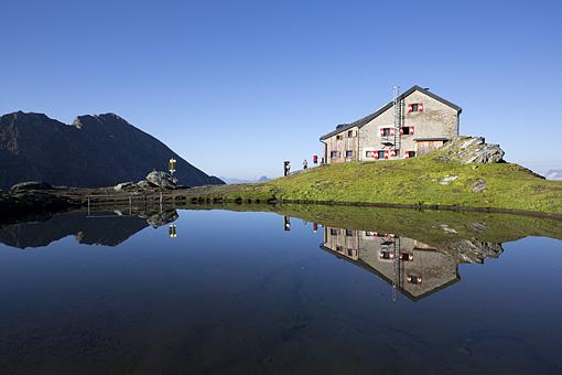 Die Sudetendeutsche Hütte In der Granatspitz, Nationalpark Hohe Tauern, Osttirol