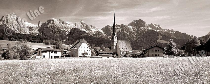 Maria Alm gegen das Steinerne Meer, Pinzgau, Salzburger Land