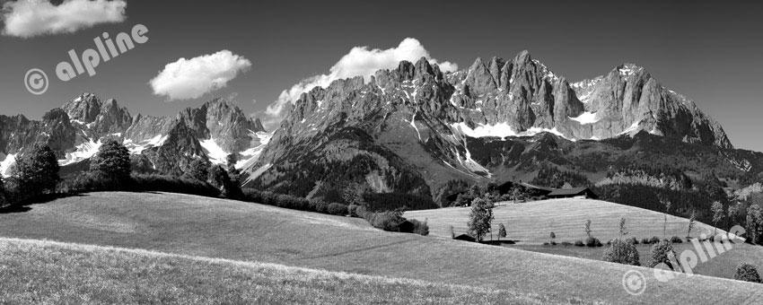 Das Kaisergebirge bei St. Johann, nähe Kitzbühel, Tirol